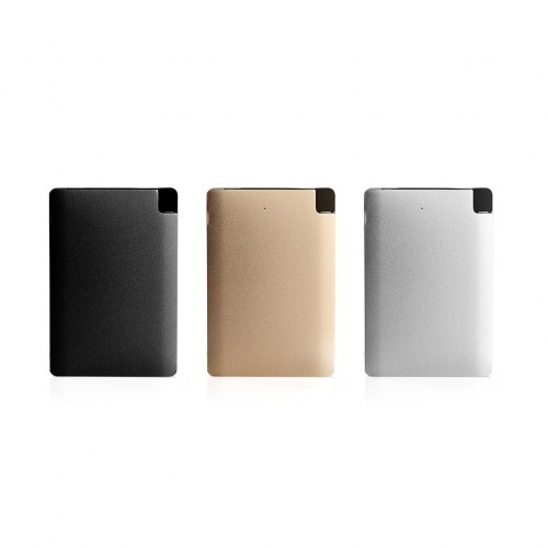 3000mAh Slim Portable Powerbank (Gold,Silver,Black)