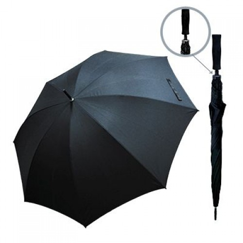30inch Black Pongee Golf Umbrella