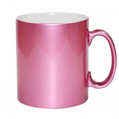 High Grade AAA 330ml high grade Glittery Pink Glossy Mug