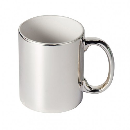 High Grade AAA Ceramic Silver-Plated Glossy High Grade Mug