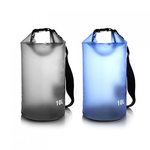 Black/Blue 10L Outdoor Waterproof Dry Bag