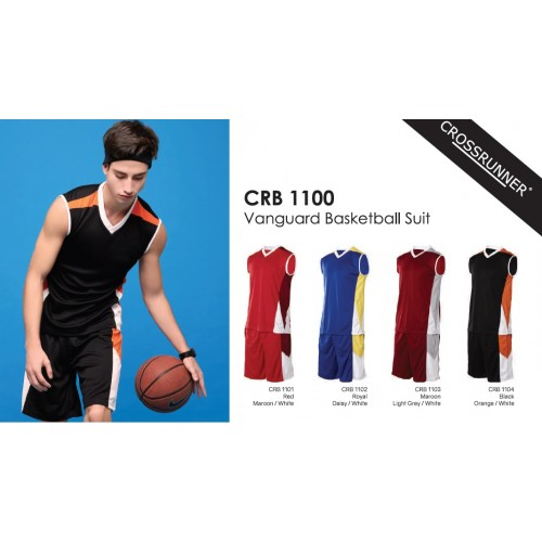 Crossrunner CRB1100 Basketball Jersey, Top & Bottom Suit Set