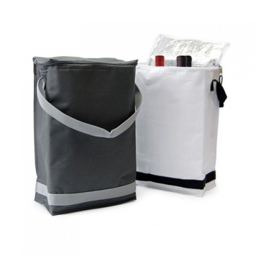 Drinks Cooler / Chiller Bag Grey/White