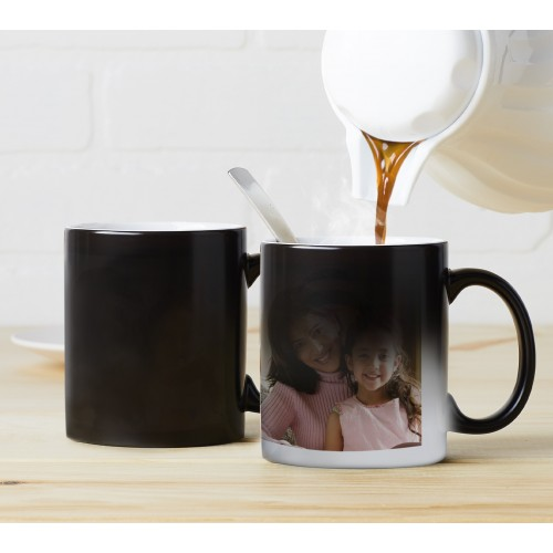 Custom Printed Heat Sensitive Colour Changing Black Magic Mug (1 pair)