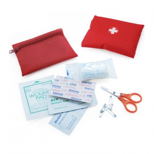 Portable Travel Mini-Size First Aid Kit Pouch